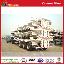 Port 3 Axle Container Delivery Terminal Bomb Cart Semi Trailer