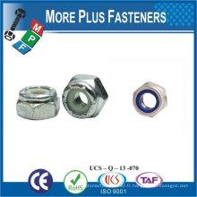 Fabriqué en Taiwan M3-0.5 DIN 985 Grade A2 en acier inoxydable Nylon Insert Lock Nut