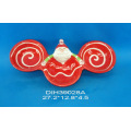 Funny Santa Hand-Painted Ceramic 3 Section Plates