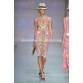 Vestido de verano de la nueva manera atractiva del paquete del vestido de la cadera del paquete delgado