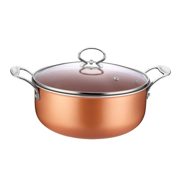 Fast Delivery for Aluminum Marble Coating Casserole Copper Pan Aluminum Non-stick Coating Casserole supply to Cuba Exporter