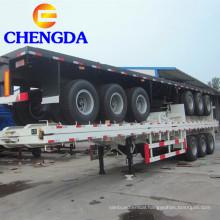 3 Axle 40ft 60ton Container Flatbed Semi trailer