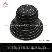 Ladies Short Brim Paper Braid Cloche Hat GW055