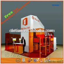 Exposição portátil da exposição do fornecedor do projeto da exposição do exhibiton do sistema da cabine da feira profissional da cabine da exposição