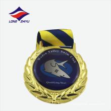 Medalla de competición de natación de fundición a presión