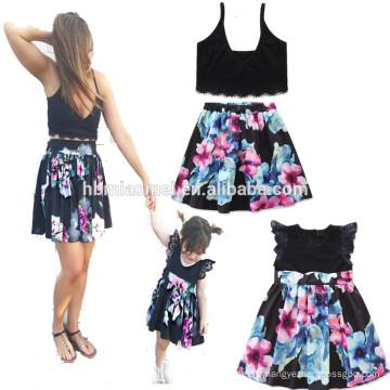 Wholesale famille correspondant à vêtements, robe fille mère, maman et moi robe