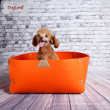 2018 Hot 2 in 1 Luxus Quadrat Haustier Bett Hund Natürliche Filz Hund Haustier Decke