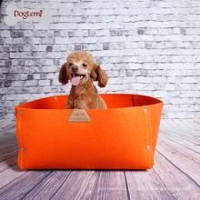 2018 2 quentes em 1 cobertor natural do animal de estimação do cão de feltro do cão da cama do animal de estimaço do quadrado