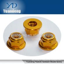high quality M5 aluminum colored flange lock nut