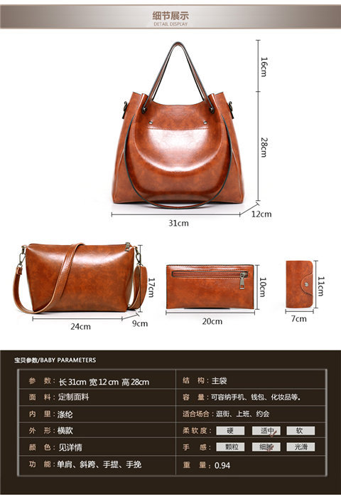 ladies-bag with metal buckle