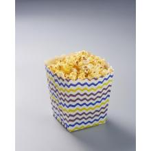 Popcorn box with raised grain printing