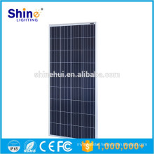 2016 poly photovoltaic solar panel 150W Black poly solar plate for home use with cheap samples