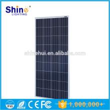 2016 poli painel solar fotovoltaico 150W Placa solar poli preto para uso doméstico com amostras baratas