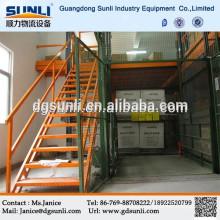 Space-saving steel mezzanine floor