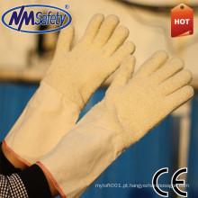 NMSAFETY luva à prova de calor luvas de costura de mão de pulso de malha