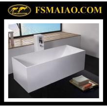 Прямоугольник белой ванной Твердый поверхностный freestanding (БС-8617)