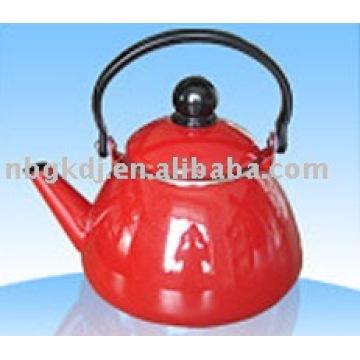 enamel tea kettle with bakelite handle and colors