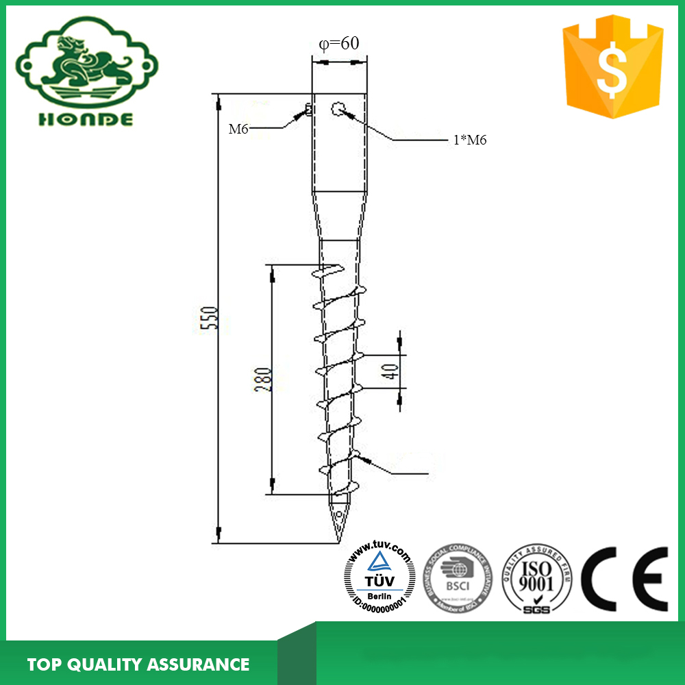 Screw Piles In Post Support para la venta