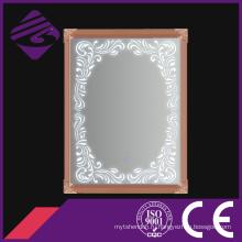 Jnh274 - Rg LED обрамленная зеркало для ванной комнаты с сенсорным экраном