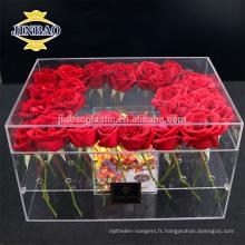 En gros acrylique matériel fleur boîte custome fait affichage acrylique boîte