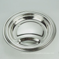 European style 10inch round divided stainless steel dinner food plate