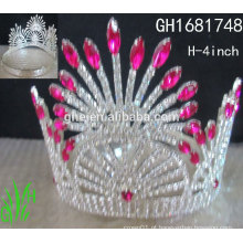Coroa bagagem coroa em forma de anel princesa beleza mini tiaras coroa