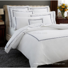 polyester cotton envelop type embroidery bedding set - bed linen- duvet cover set