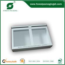 Caixa de cartão branco cosmético com janela de PVC