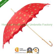 Chinesische rote Herzen Hochzeit Regenschirm für Bräute (SU-0023GW)