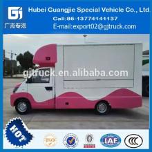 camión móvil de comida rápida Popular Multi-función Mini Food Truck / Fast Food Cart / Hot Dog Vending Van