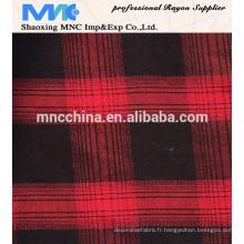 tissu de mode teint en fil de rayonne