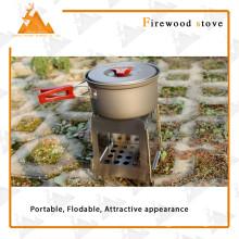 Estilo cuadrado portátil plegable Outdoor Camping estufa de leña