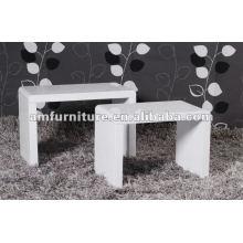Mesa de centro de diseño de moda MDF con alto brillo blanco