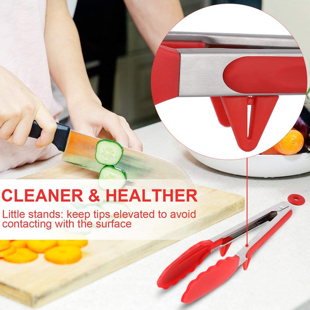 silicone tongs kitchen