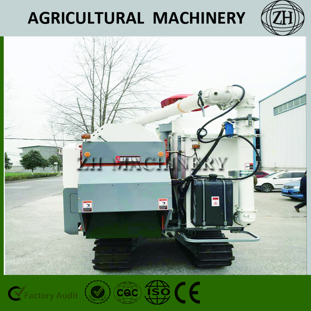 High Efficience Semi-feed Crawler Farm Harvester 4LZ-5.0