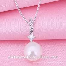 Joyería al por mayor de la fábrica 2018 Collar nuevo de la perla del diseño La joyería plateada rodio es su buena selección