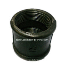 """1-1/2"""" Beaded Black Coupling Malleable Iron Pipe Fittings"""