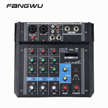 2020 Mini 4 Channel Music Console Power Mixer with USB Blue-t-ooth