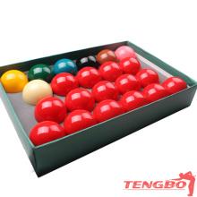 Balles de snooker haut de gamme de TB-T-10 de vente directe d'usine boules de résine phénolique