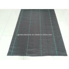 Geotêxtil de filme de fenda preto tecido