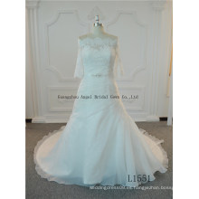 Vestido de novia sirena real sin respaldo