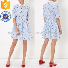 Синий и красный в полоску платье Производство Оптовая продажа женской одежды (TA4067D)
