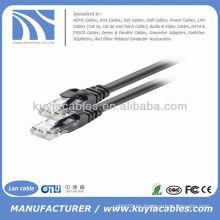 Negro cable de conexión Cat6 de utp Cable Ethernet de red Lan 4pr 24awg
