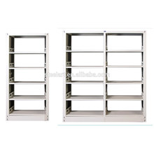 wooden side metal frame library book shelf with good price for sale