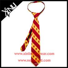 Boys prêt noeud avec YKK Zipper Gryffondor Harry Potter cravate en soie imprimé personnalisé