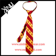 Boys Ready Knot with YKK Zipper Gryffindor Harry Potter Custom Print Silk Tie