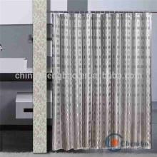 Cortina de ducha de lujo con doble diseño de jacquard lado