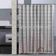 Luxury shower curtain with double side jacquard design