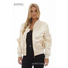 Metalic Bomber Sport Women Jacket
