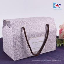 Sencai изготовленное на заказ Промотирование коробки гофрированной бумаги упаковывая с ручкой